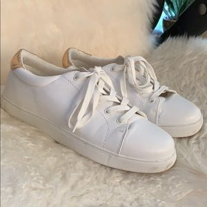 White and Gold Fashion Sneakers Forever 21